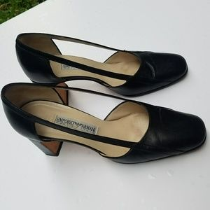 Emporio Armani vintage leather pump shoes